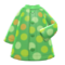 Dotted Raincoat (Green) NH Icon.png