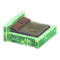 Frozen Bed (Ice Green - Dark Brown) NH Icon.png