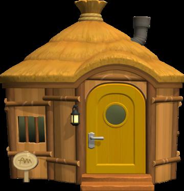 Exterior of Egbert's house in Animal Crossing: New Horizons