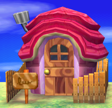 Exterior of Miranda's house in Animal Crossing: New Leaf