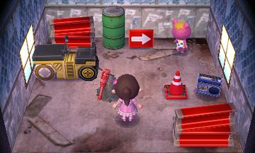 Interior of Vladimir's house in Animal Crossing: New Leaf