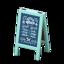 Menu Chalkboard (Blue)