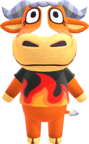 Angus, an Animal Crossing villager.