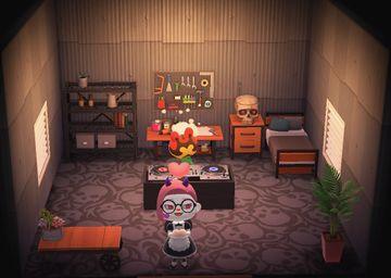 Interior of Drift's house in Animal Crossing: New Horizons