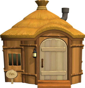 Exterior of Tucker's house in Animal Crossing: New Horizons