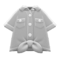 Front-Tie Button-Down Shirt (Gray) NH Icon.png