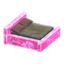 Frozen Bed (Ice Pink - Dark Brown)