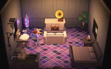 Interior of Kidd's house in Animal Crossing: New Horizons