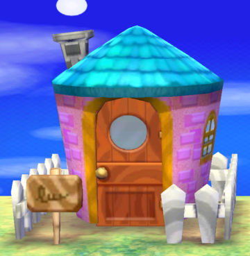 Exterior of Olive's house in Animal Crossing: New Leaf
