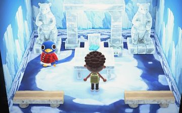 Interior of Roald's house in Animal Crossing: New Horizons