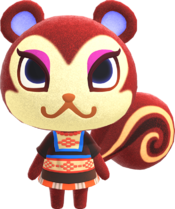 Pecan, an Animal Crossing villager.