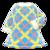 Tweed Dress (Blue) NH Icon.png