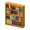 Wooden Bookshelf (Brown) NH Icon.png