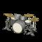 Drum Set (Black & White - Smooth White) NH Icon.png