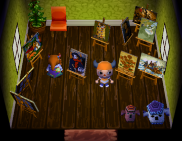 Interior of Nosegay's house in Animal Crossing