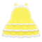 Dollhouse Dress (Yellow) NH Icon.png