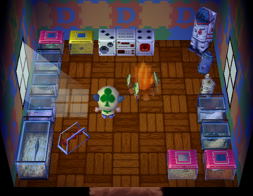 Interior of Ace's house in Animal Crossing