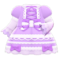 Lace-Up Dress (Purple) NH Icon.png