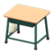 School Desk (Beige & Green) NH Icon.png