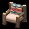 Log Chair (Dark Wood - Geometric Print) NH Icon.png