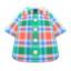 Madras Plaid Shirt (Green) NH Icon.png