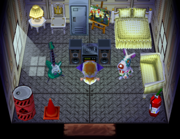Interior of Astrid's house in Animal Crossing