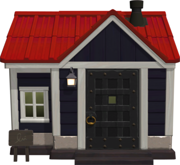 Exterior of Cherry's house in Animal Crossing: New Horizons