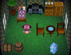Goose's house interior