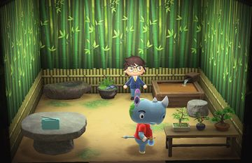 Interior of Tank's house in Animal Crossing: New Horizons