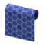 Blue Honeycomb-Tile Wall
