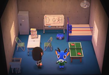 Interior of Bam's house in Animal Crossing: New Horizons