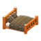 Log Bed (Orange Wood - Bears) NH Icon.png