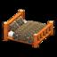Log Bed (Orange Wood - Bears)