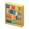 Wooden Bookshelf (Light Brown) NH Icon.png