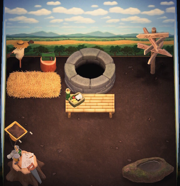 Interior of Boots's house in Animal Crossing: New Horizons