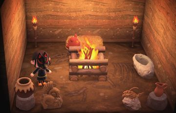 Interior of Clay's house in Animal Crossing: New Horizons
