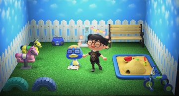Interior of Derwin's house in Animal Crossing: New Horizons