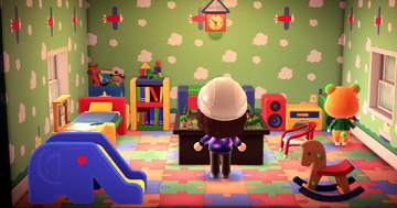 Interior of Pudge's house in Animal Crossing: New Horizons
