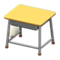 School Desk (Natural & Silver) NH Icon.png