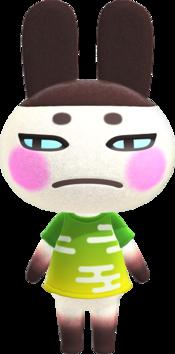 Genji, an Animal Crossing villager.