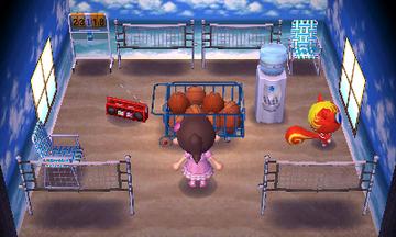 Interior of Caroline's house in Animal Crossing: New Leaf