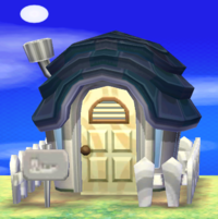 Vesta's house exterior