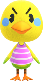 Twiggy, an Animal Crossing villager.