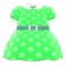 Belted Dotted Dress (Green) NH Icon.png
