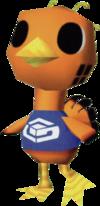 Nindori, an Animal Crossing villager.