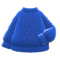 Aran-Knit Sweater (Blue) NH Icon.png