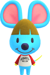 Broccolo, an Animal Crossing villager.