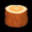 Log Stool (Orange Wood)