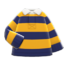 Thick-Stripes Shirt (Yellow & Navy) NH Icon.png