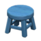 Wooden Stool (Blue - None) NH Icon.png